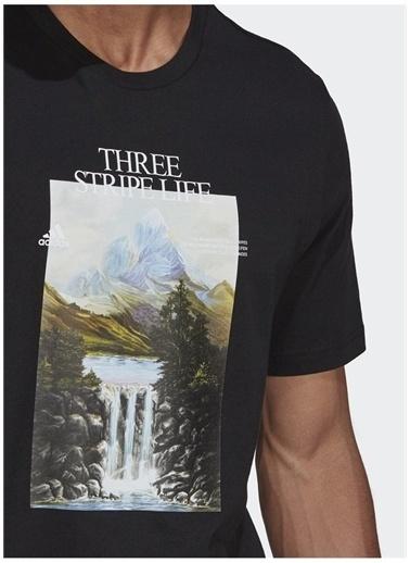 adidas adidas GN6852 MOUNTAIN TEE M Erkek T-Shirt Siyah